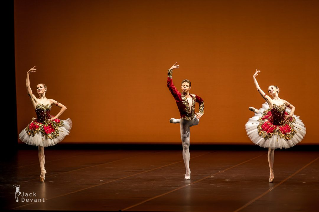 Paquita Pas de Trois by Iana Balova, Stephanie Greenwald and Taras Bilenko, choreography by Marius Petipa