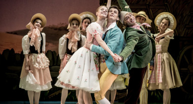 La Fille Mal Gardee by Frederick Ashton. Angelina Vorontsova as Lise, Ivan Zaytsev as Colas and Nikolay Tsiskaridze