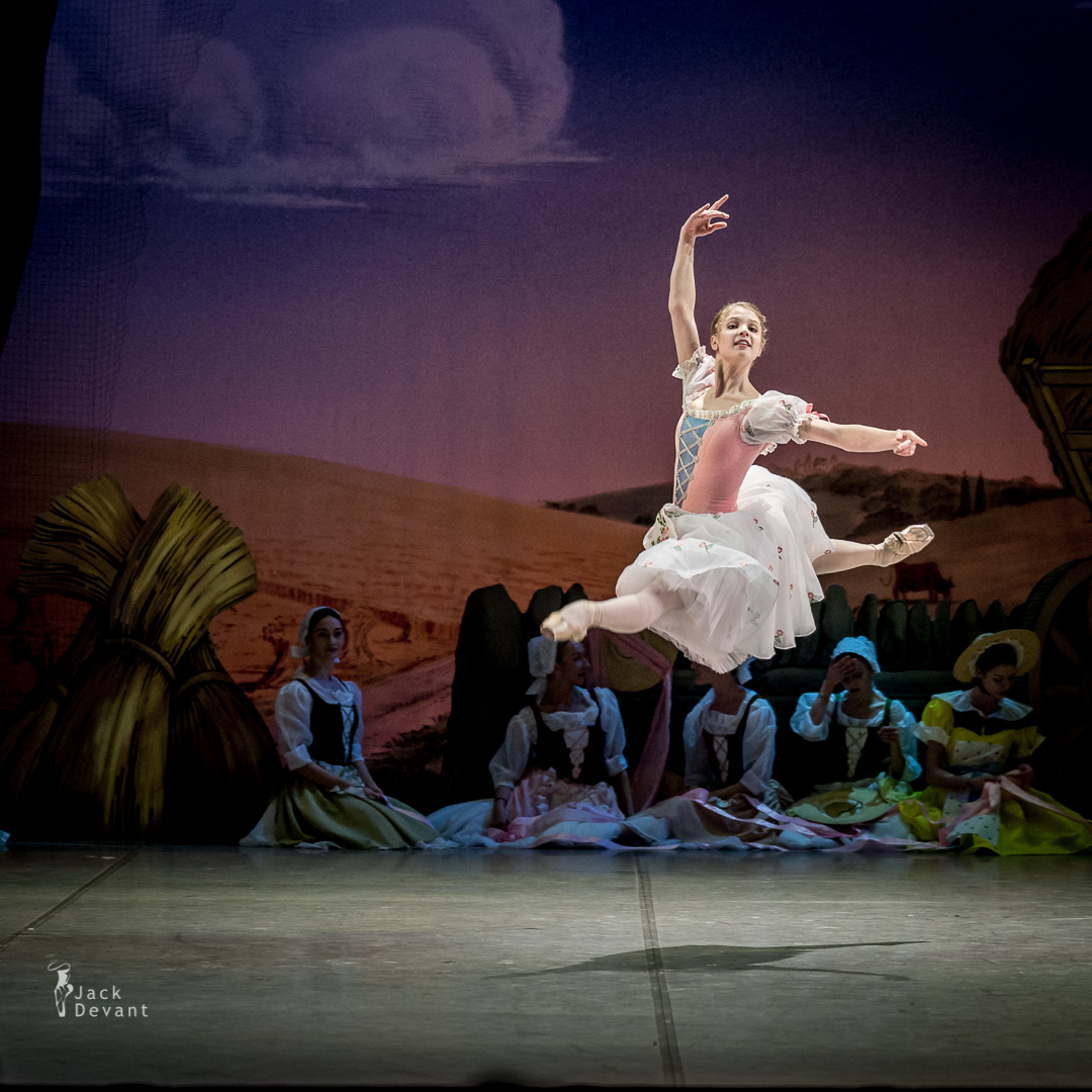 La Fille Mal Gardee by Frederick Ashton. Angelina Vorontsova as Lise jete