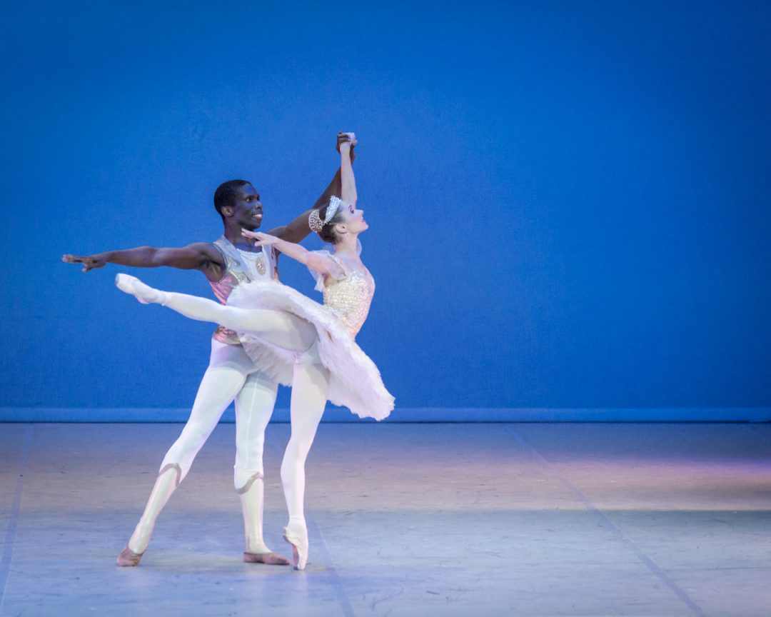 Raminta Rudzionyte and Brandon Alexander in Raymonda