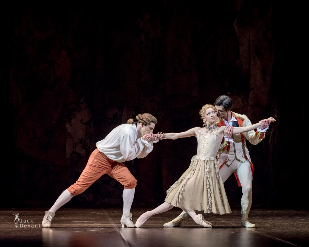 Natalia Somova, Georgi Smilevski and Anton Domashev in Manon