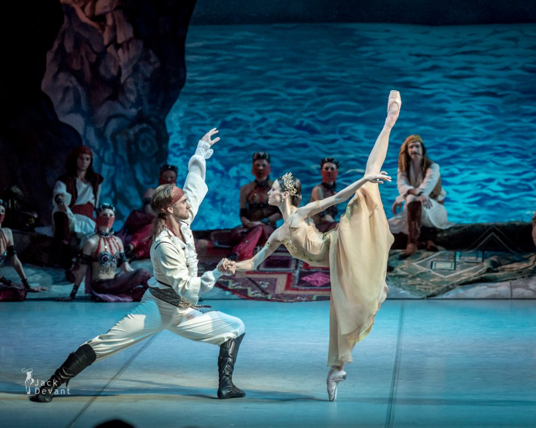 Kristina Shapran, Andrey Kasyanenko and Victor Lebedev in Le Corsaire