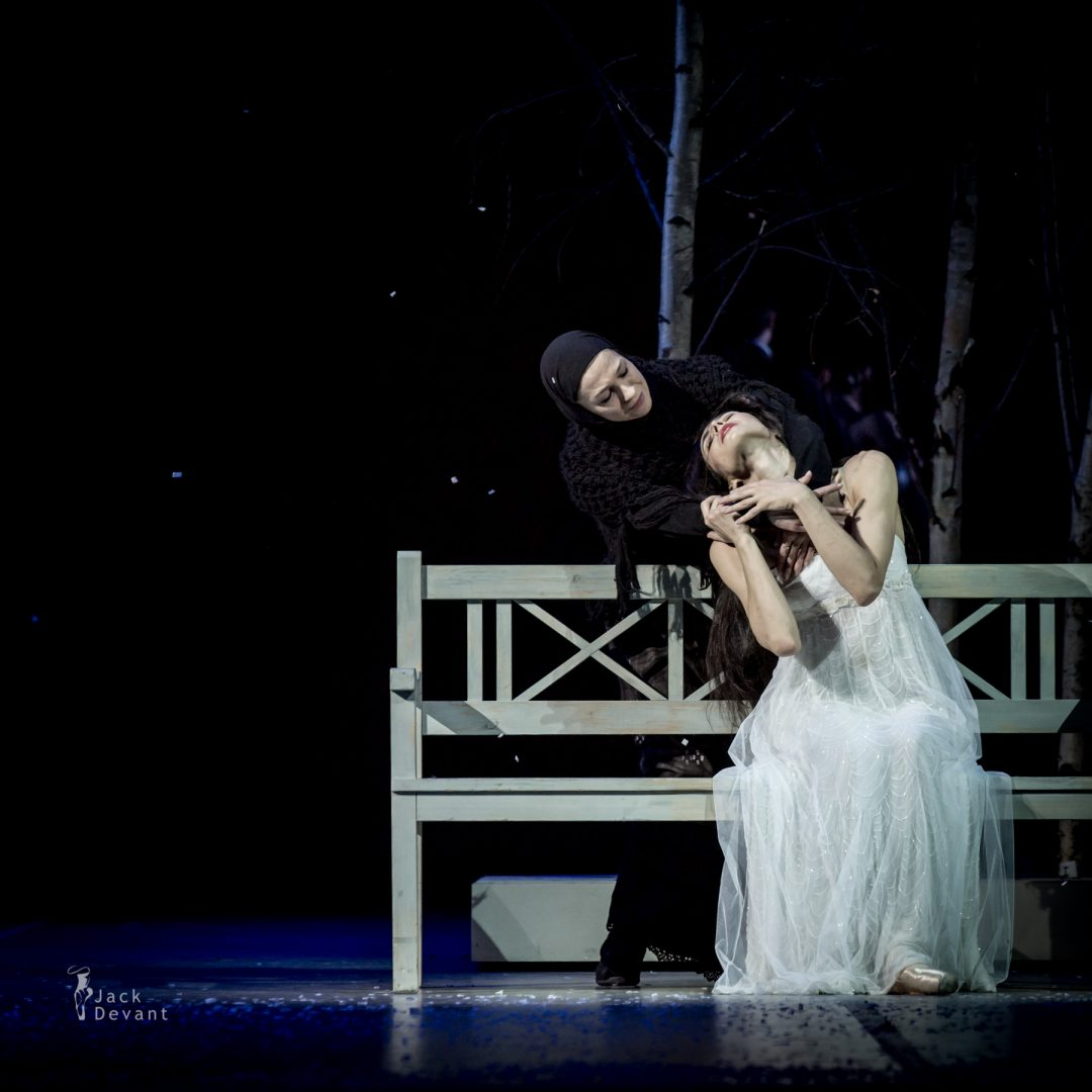 Diana Vishneva and Dmitry Sobolevsky in the Dream scene in Tatiana