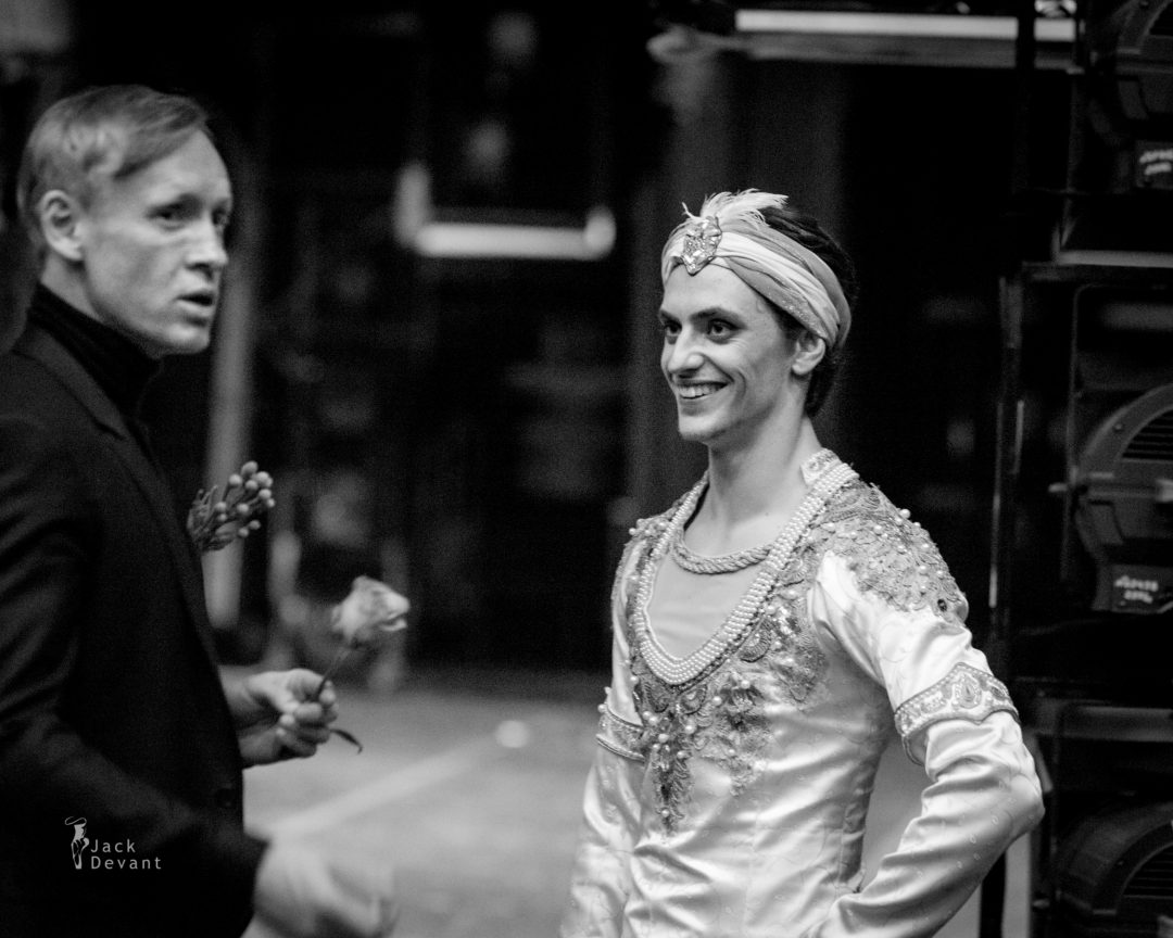 Sergei Polunin and Igor Zelensky backstage