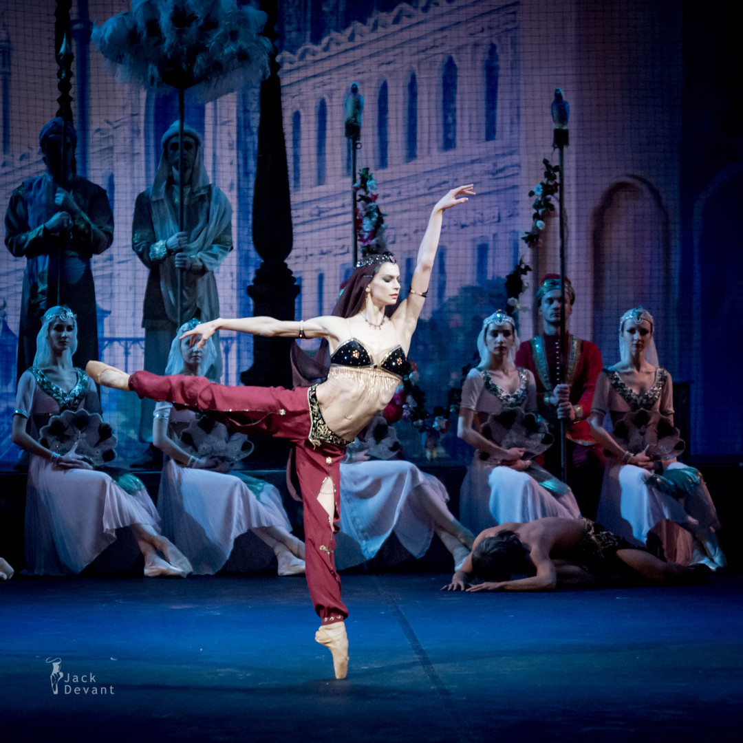 Polina Semionova in La Bayadere basket of flowers scene