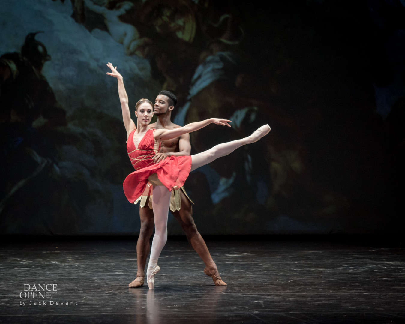 Yolanda Correa and Osiel Gouneo in Diana and Acteon