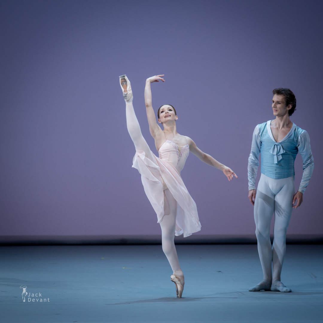 Evgenia Obraztsova and Semyon Chudin in Tchaikovsky PDD
