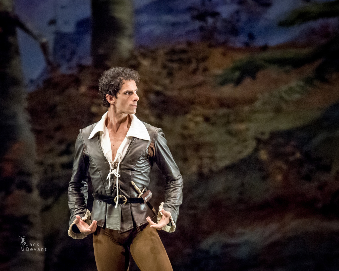 Edmondo Tucci as Hilarion in Giselle 1st act