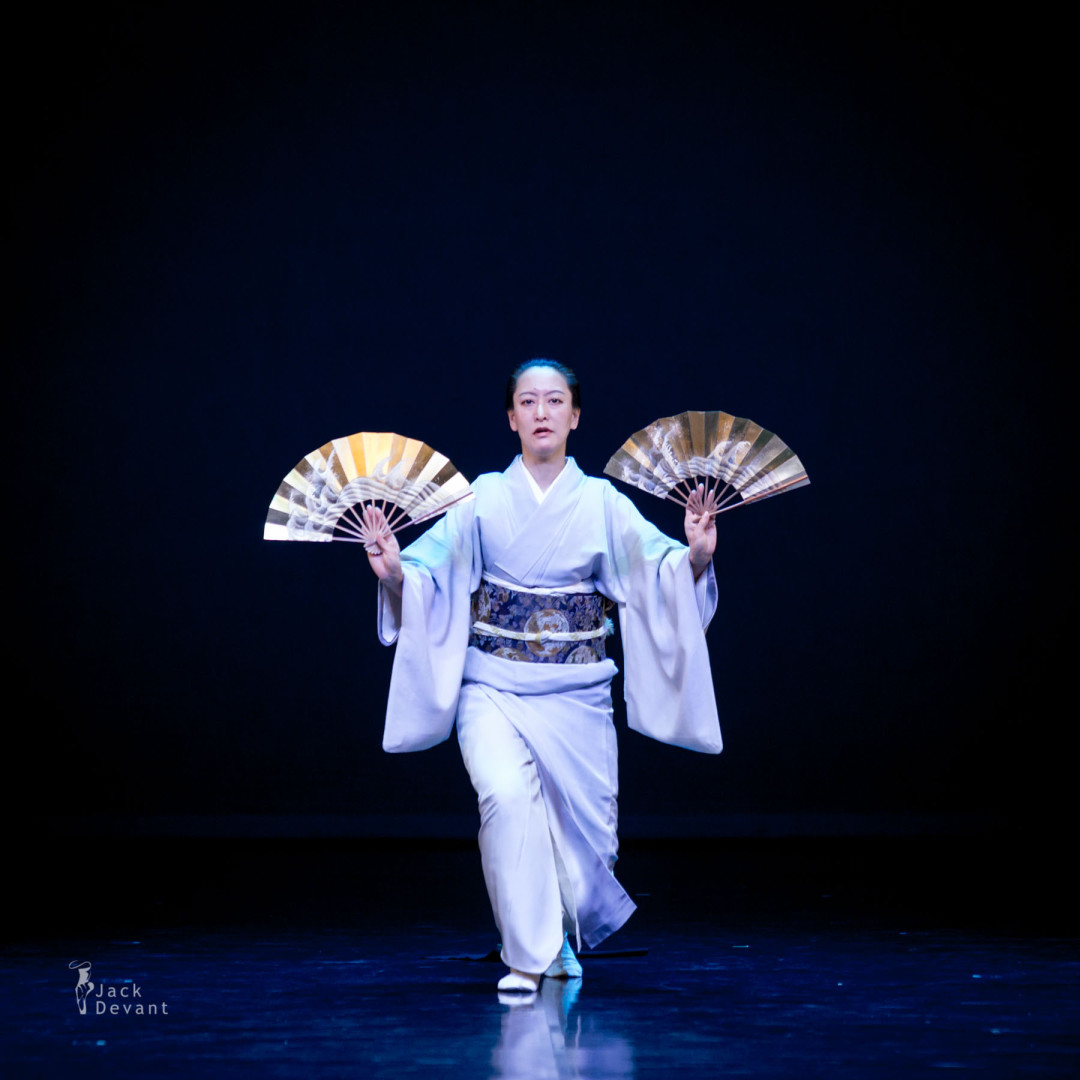 Mikiko Toyoshima in traditional Japanese kamigata dance Yashima