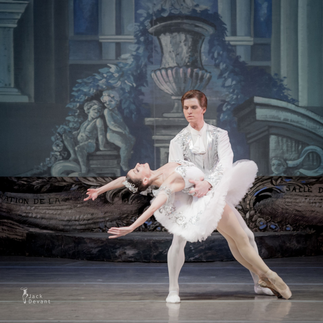Ekaterina Alayeva (Ukr. АЛАЄВА Катерина) as Aurora and Andrey Gura (Ukr. ГУРА Андрій) as Prince in The Sleeping Beauty