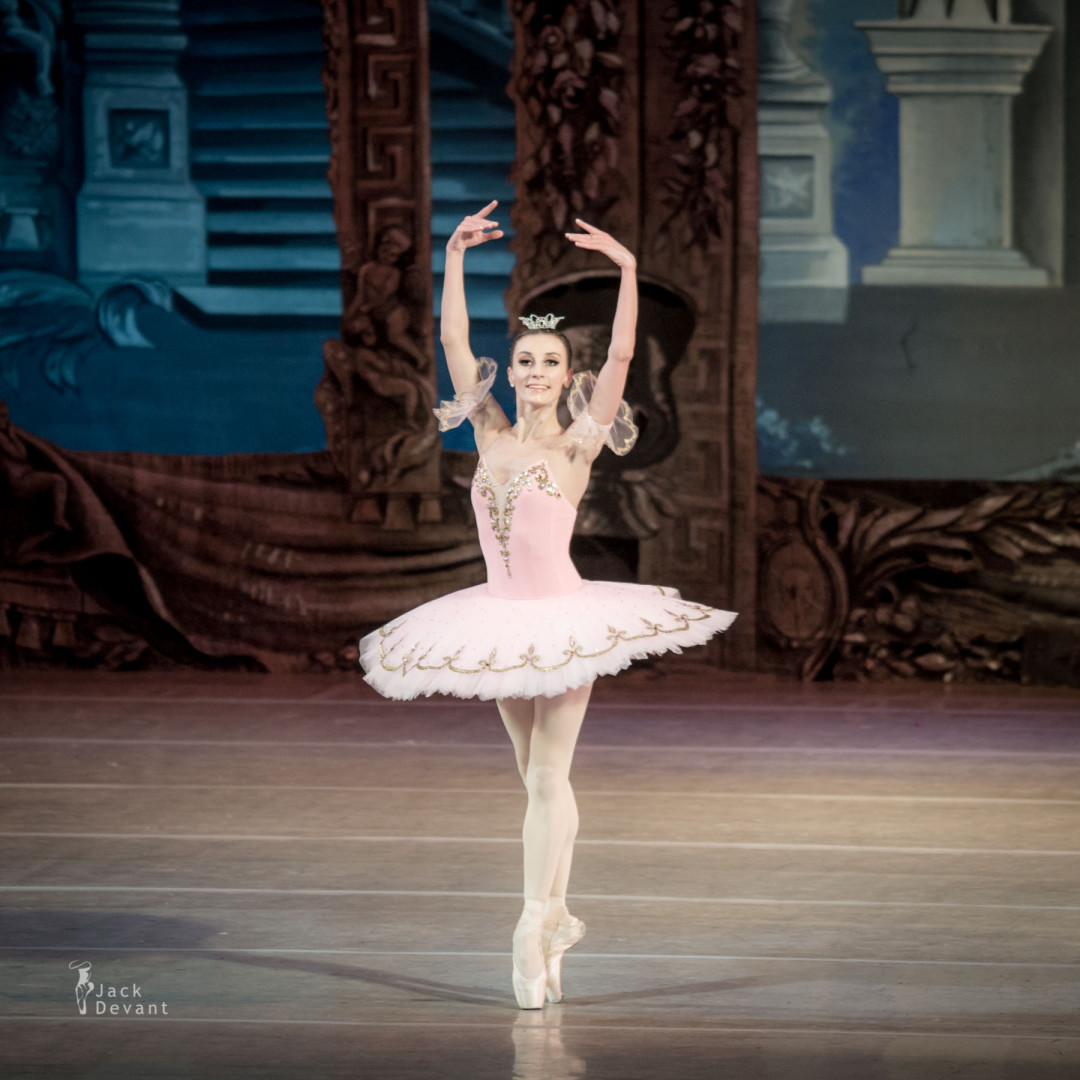 Ekaterina Alayeva as Aurora in Rose Adagio The Sleeping Beauty