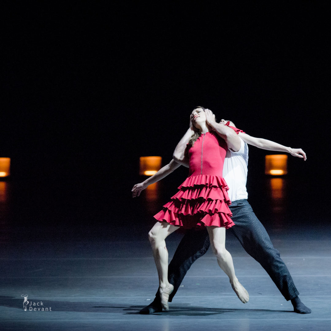 Benois de la Danse 2016 Laureates Gala Emilia Gisladottir and Daan Vervoort in the duet from Carmen, music by Georges Bizet and Rodion Shchedrin, choreography by Johan Inger