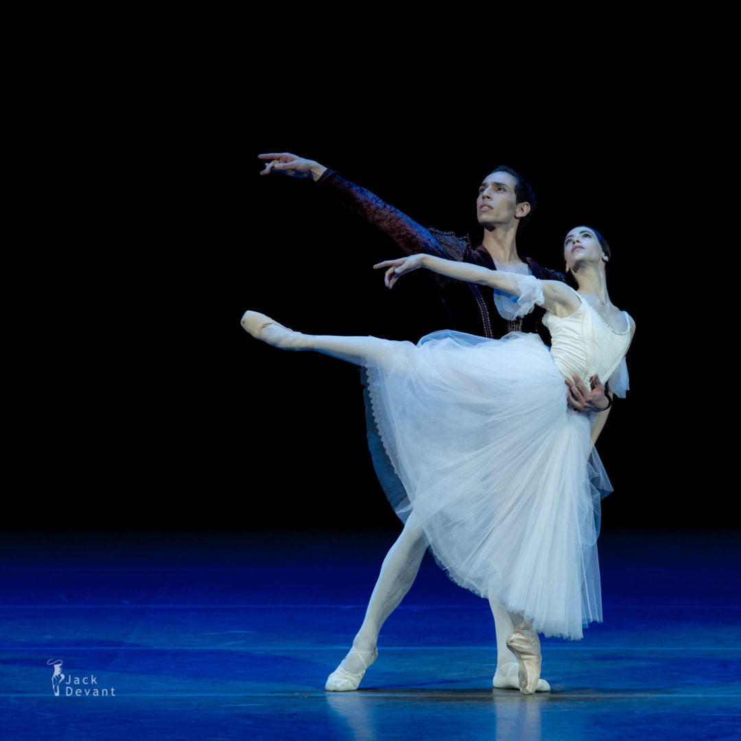 Benois de la Danse 2016 Laureates Gala Rebecca Bianchi and Claudio Cocino in duet from Giselle, music by Adolphe Adam, choreography version by Patricia Rouanne after Marius Petipa
