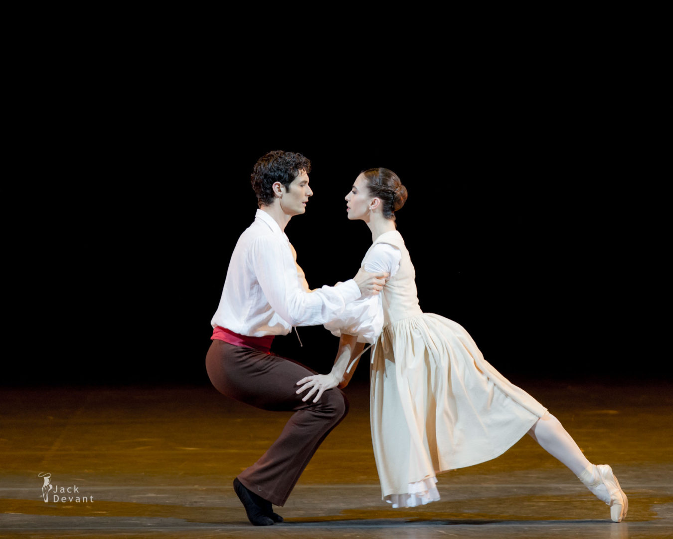 Benois de la Danse 2016 Laureates Gala Rebecca Bianchi and Alessandro Riga in L'Arlésienne duet, music by Georges Bizet, choreography by Roland Petit