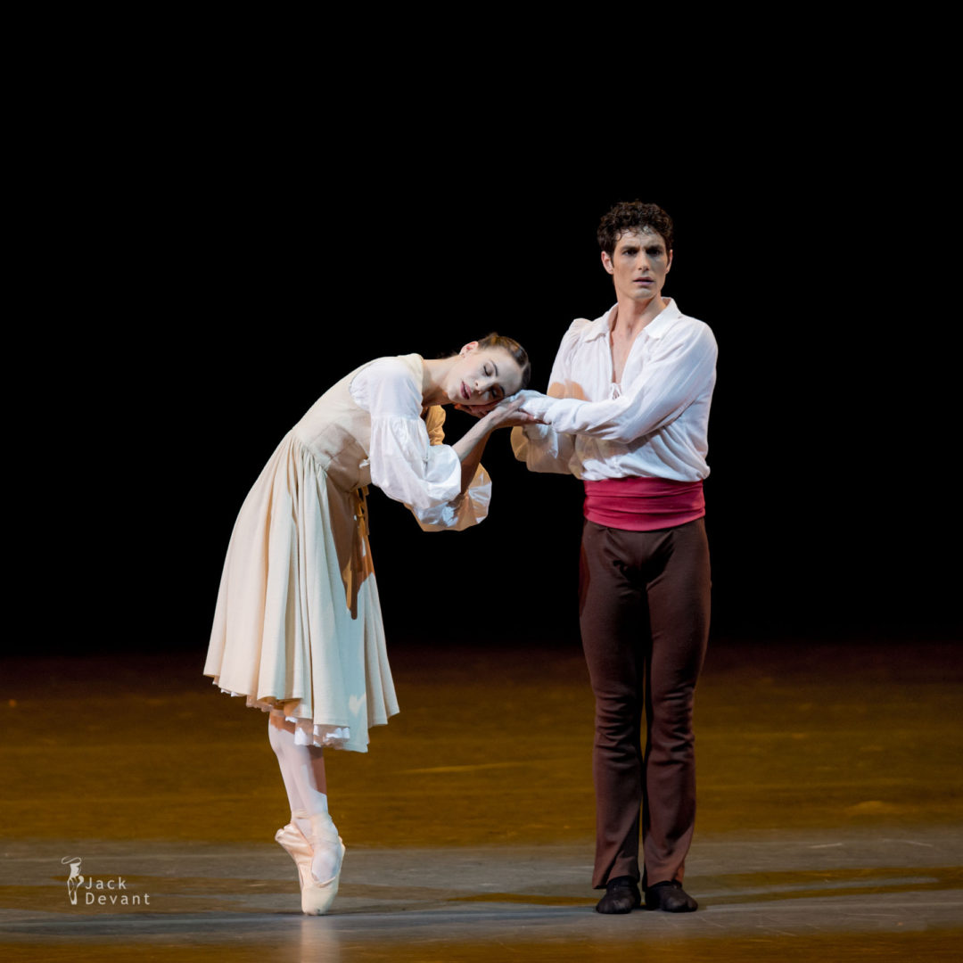 Rebecca Bianchi and Alessandro Riga in L'Arlésienne duet, music by Georges Bizet, choreography by Roland Petit