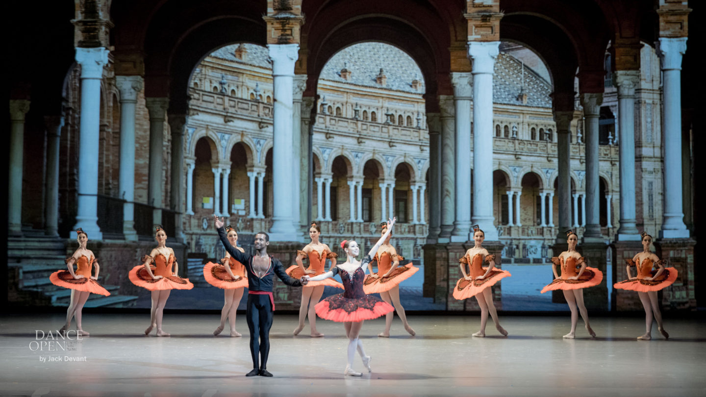 Kristina Kretova and Osiel Gouneo in the Grand pdd from Don Quixote Yakobson Ballet Theatre