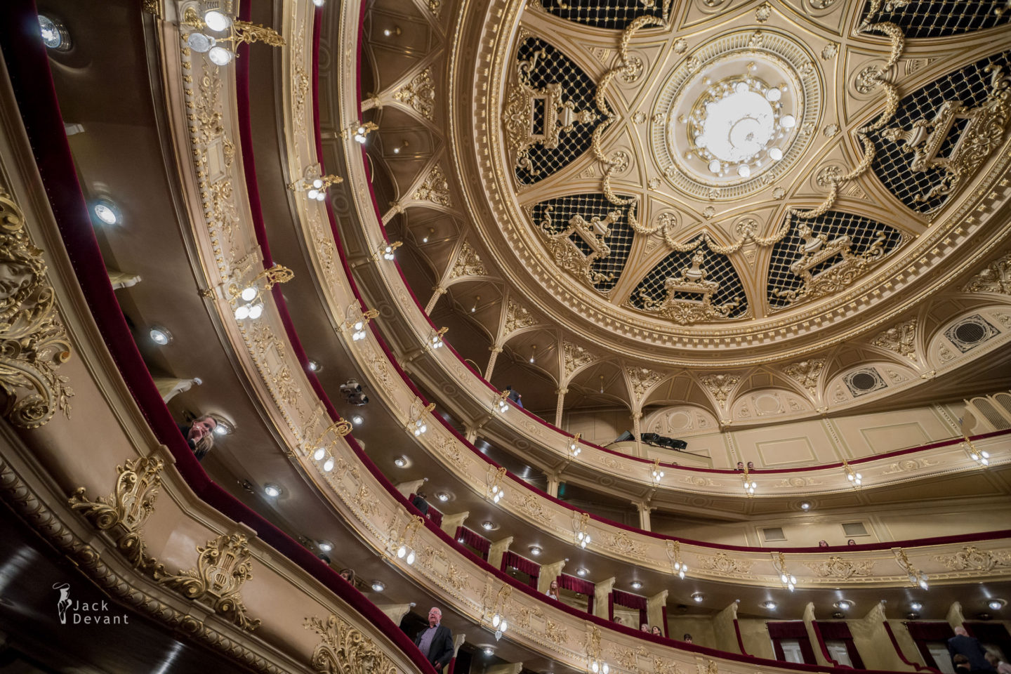 National Opera of Ukraine Національна опера України balcony and ceiling