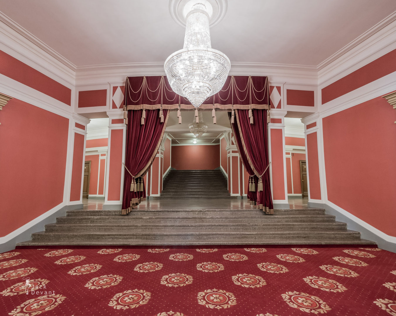 Novosibirsk Opera and Ballet Theatre Entrance Hall staircase to second floor