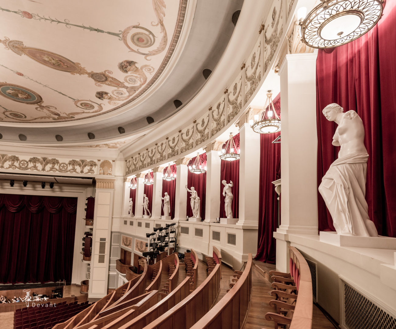 Novosibirsk Theatre copies of antique Greek statues