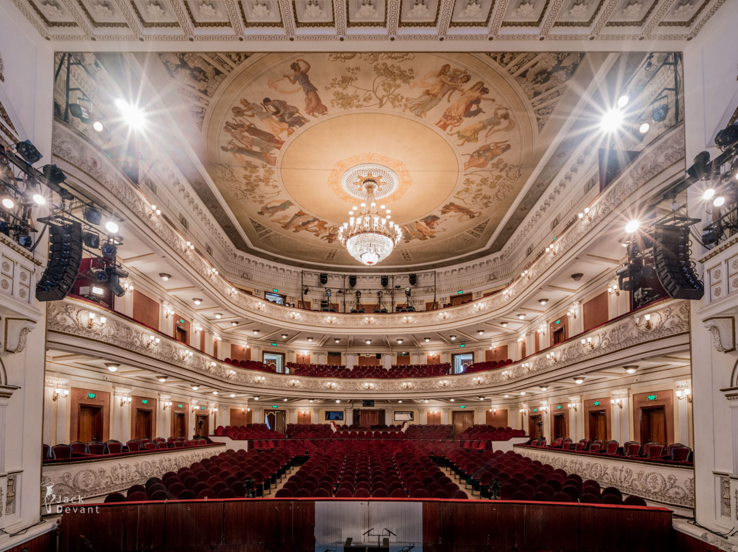 Perm Opera and Ballet Theatre auditorium seen from the stage