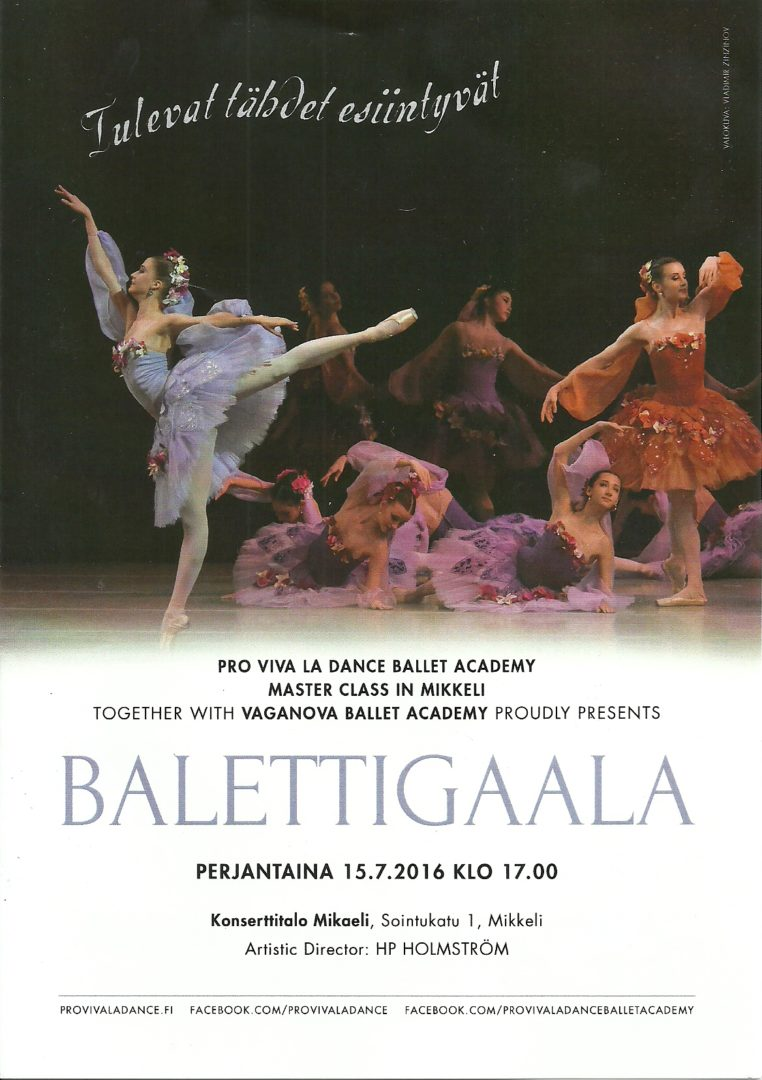Pro Viva la Dance Gala 2016 program