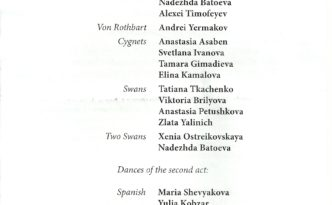 16.10.2016 Swan Lake, Oksana Skorik and Yevgeny Ivanchenko, Mariinsky Program