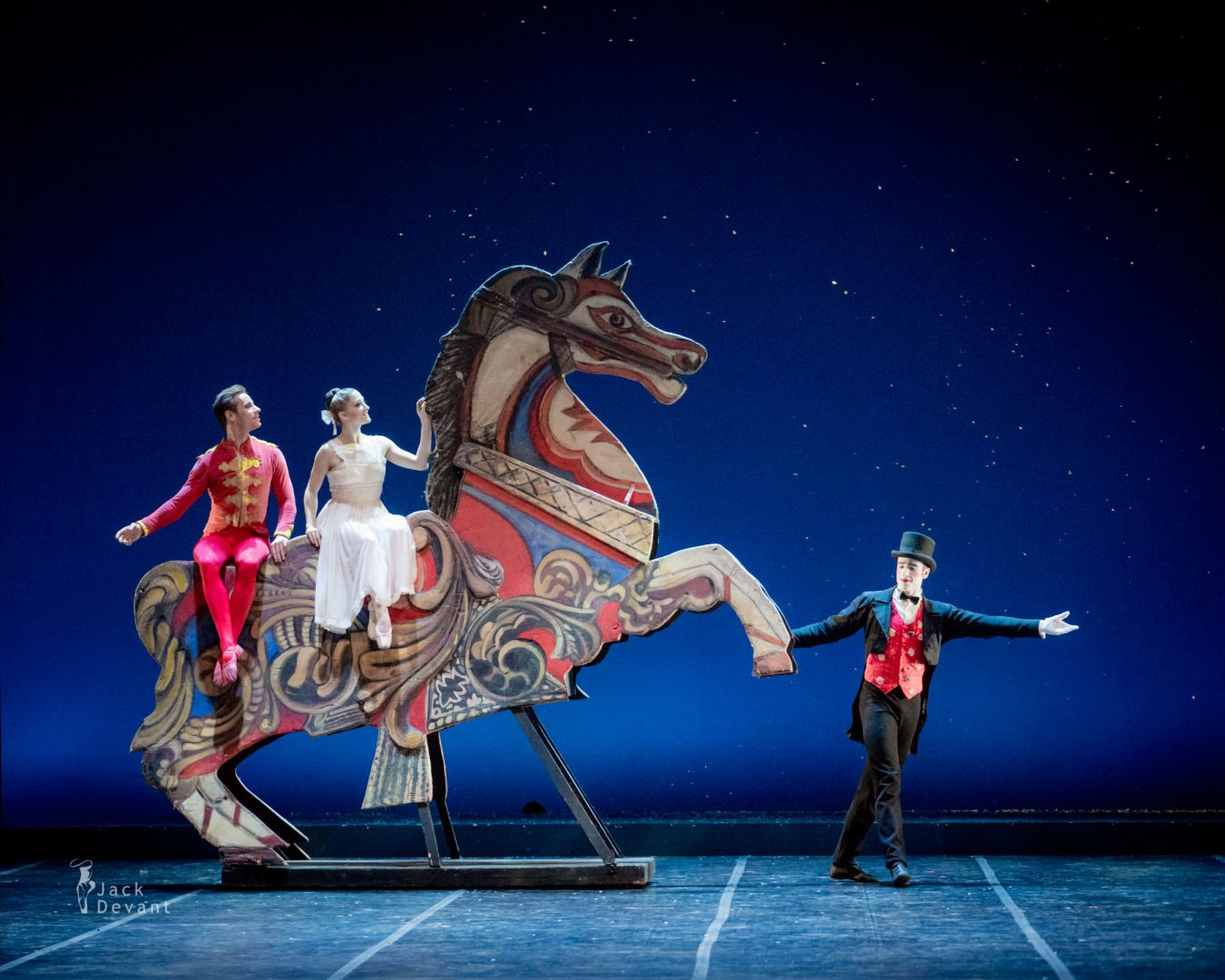 Ashley Bouder and Andrew Veyette Valerio Polverari as Drosselmeier in The Nutcracker (Schiaccianoci)