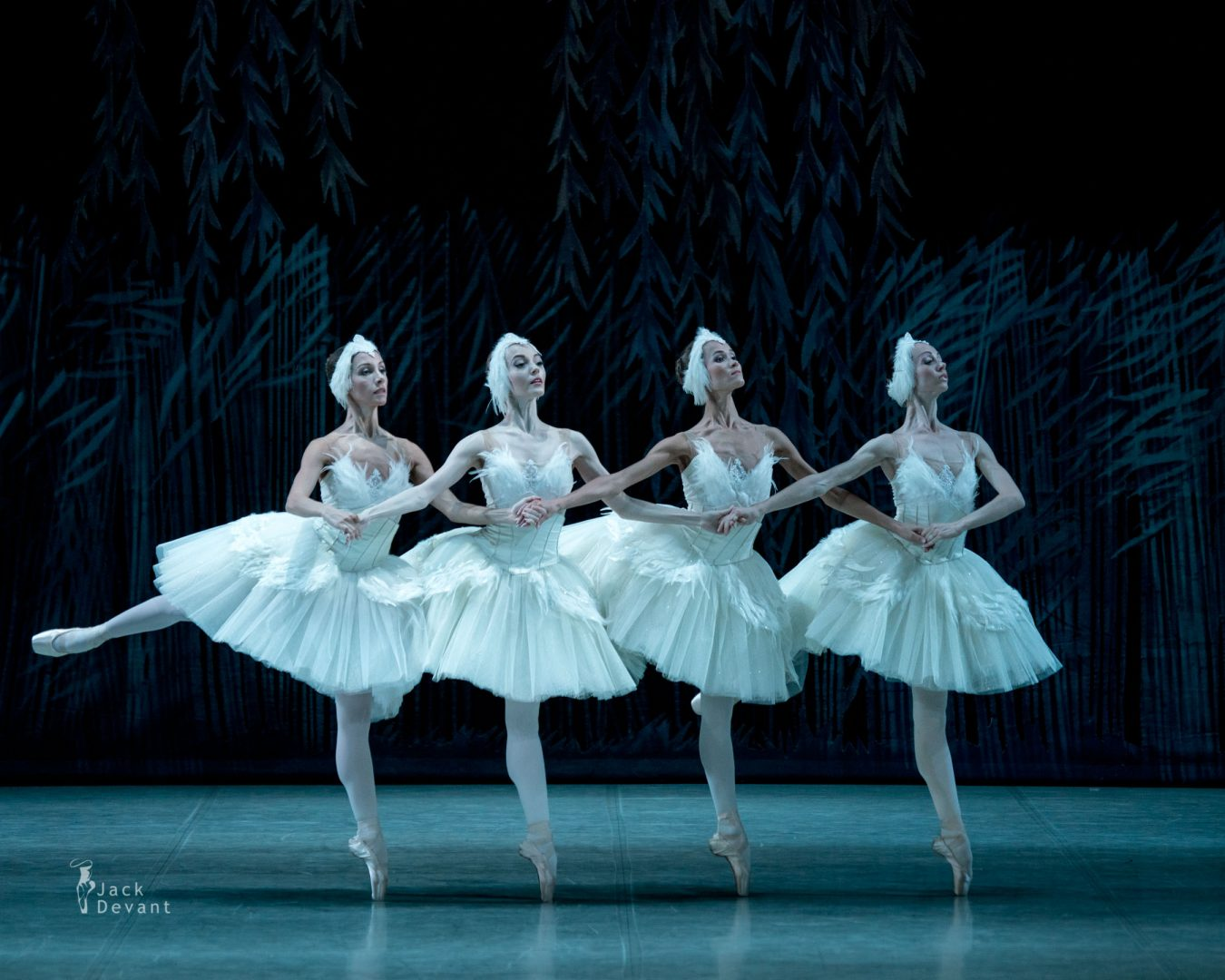 Ksenia Barbasheva, Ksenya Korobets, Yana Lobas and Anna Terenteva as Cygnets in Swan Lake