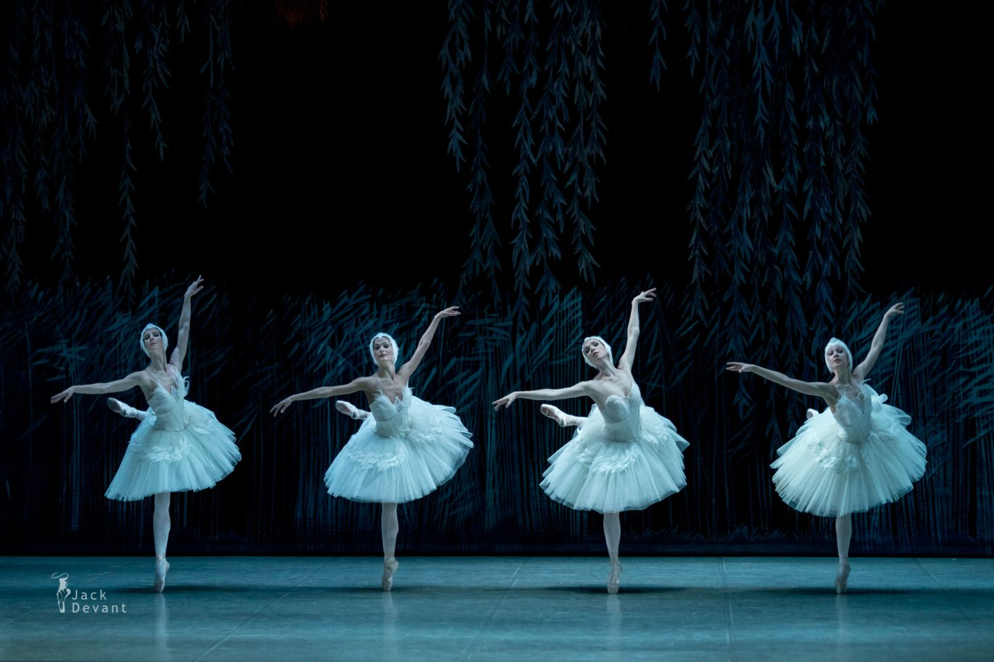 Ekaterina Gusina, Natalya Makina, Anna Poistogova and Elena Hvatova as four Swans in Swan Lake