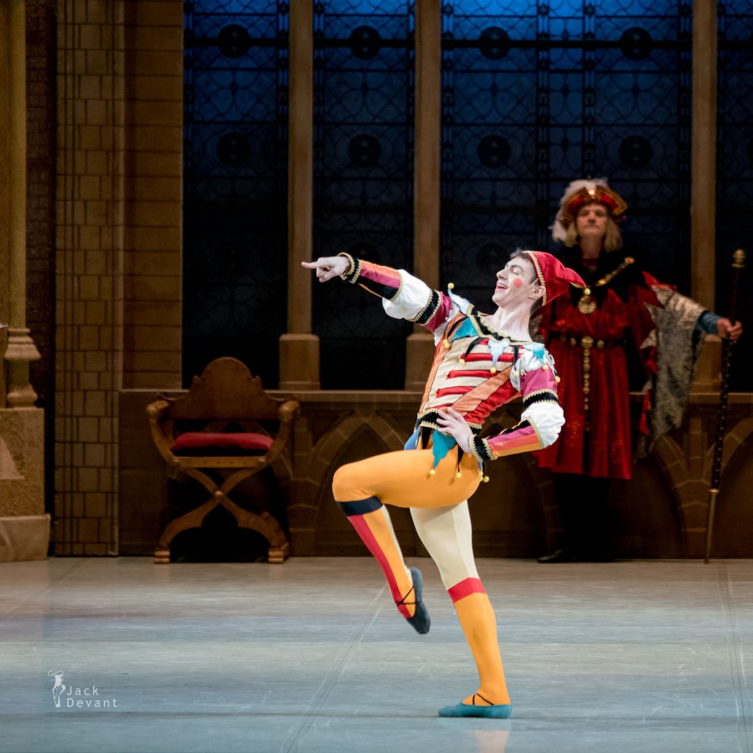 Taras Tovstyuk (Тарас Товстюк) as Jester in Swan Lake