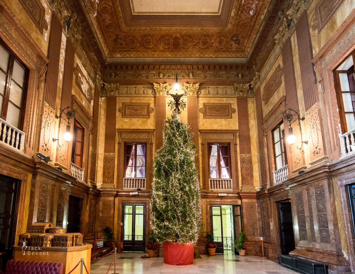 Teatro Massimo christmas tree in the first floor entrance hall