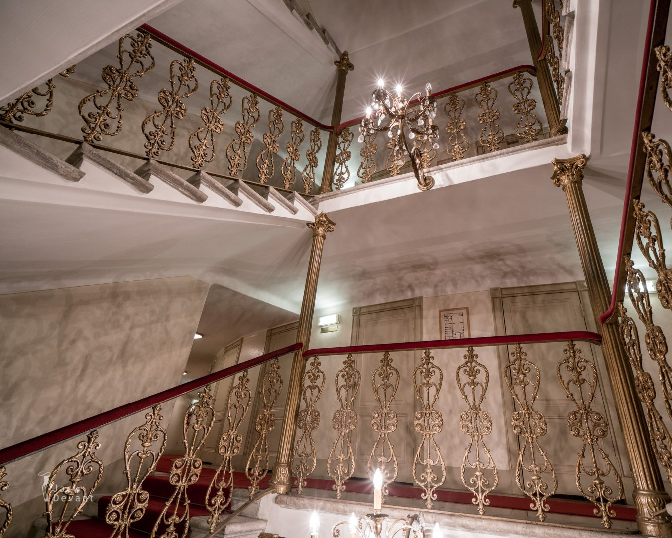 The Teatro Lirico Giuseppe Verdi stairs to galleries