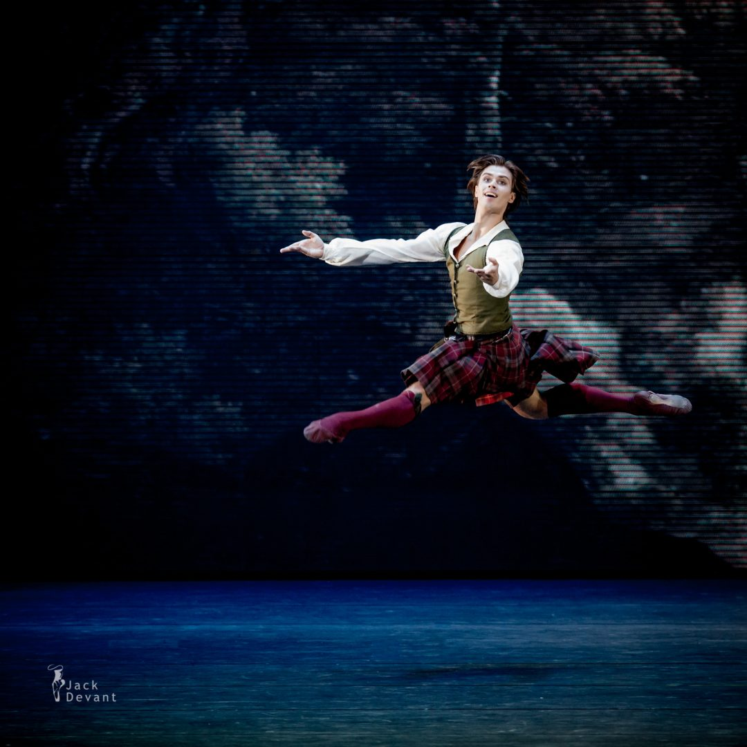 Artem Ovcharenko (Dnipro) La Sylphide, music by Herman Severin Løvenskiold, choreography by August Bournonville.