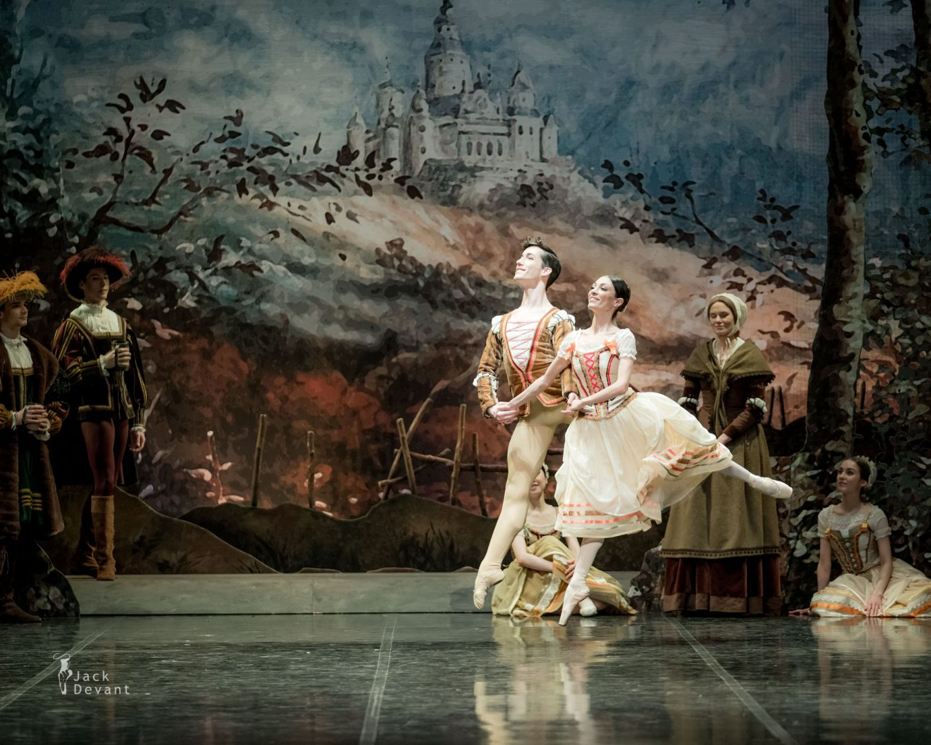 Giselle, Marta Navasardyan and Eneko Amoros in peasant pdd beginning