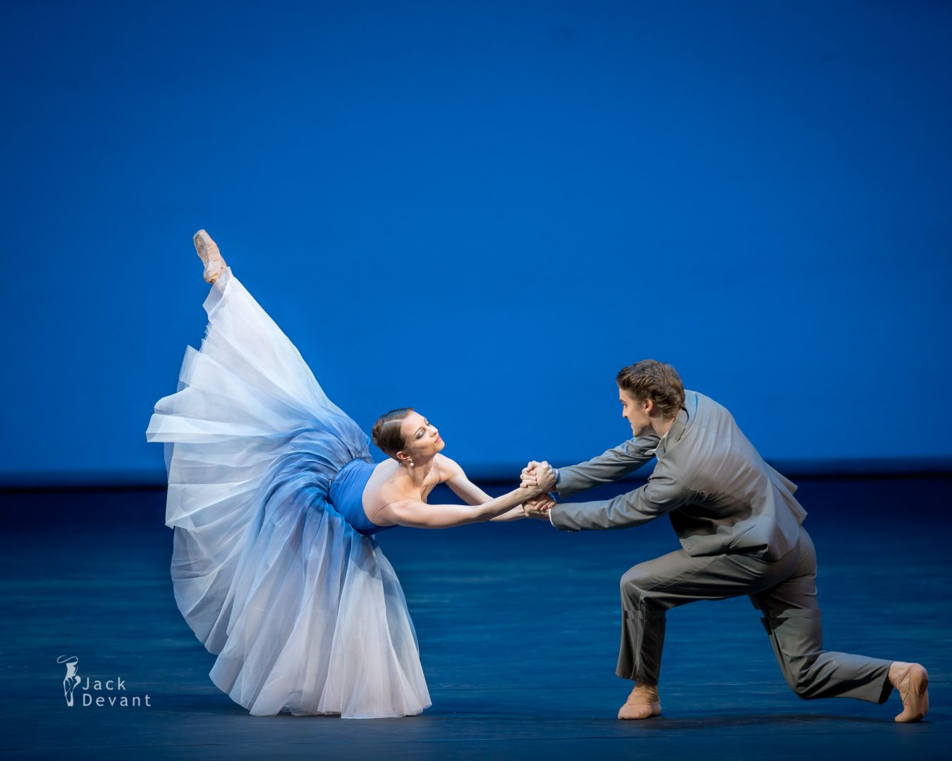 Benois de la Danse 2017, Nina Kaptsova and Alexander Volchkov (The Bolshoi Theatre) in the duet of Bianca and Lucentio from Taming of the Shrew. Music by Dmitri Shostakovich, choreography by Jean-Christophe Maillot