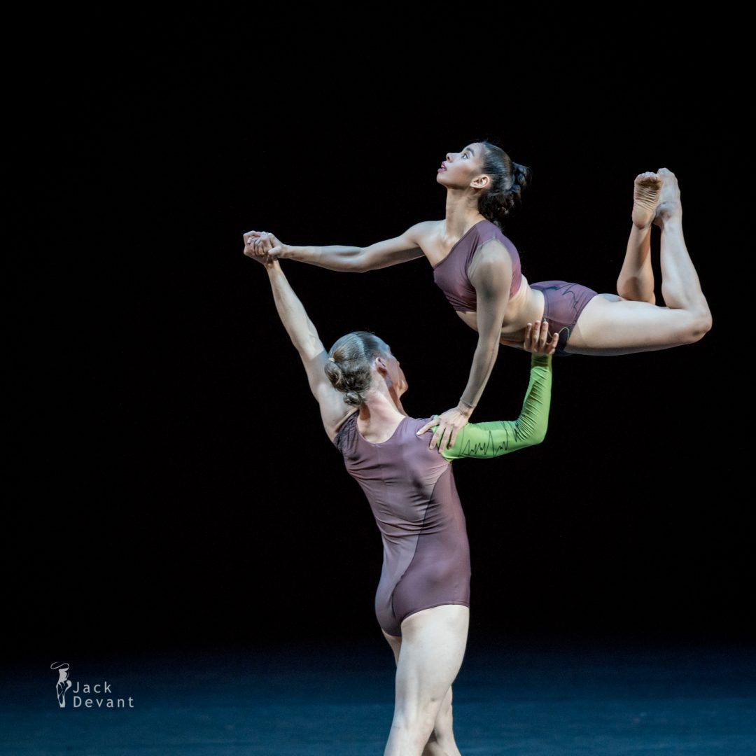 Fukiko Takase, Travis-Klausen Knight and Jame Pett (Company Wayne McGregor) in Atomos, music by A Winged Victory for the Sullen, choreography by Wayne McGregor
