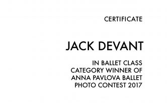 Anna Pavlova Ballet Photography Contest winner