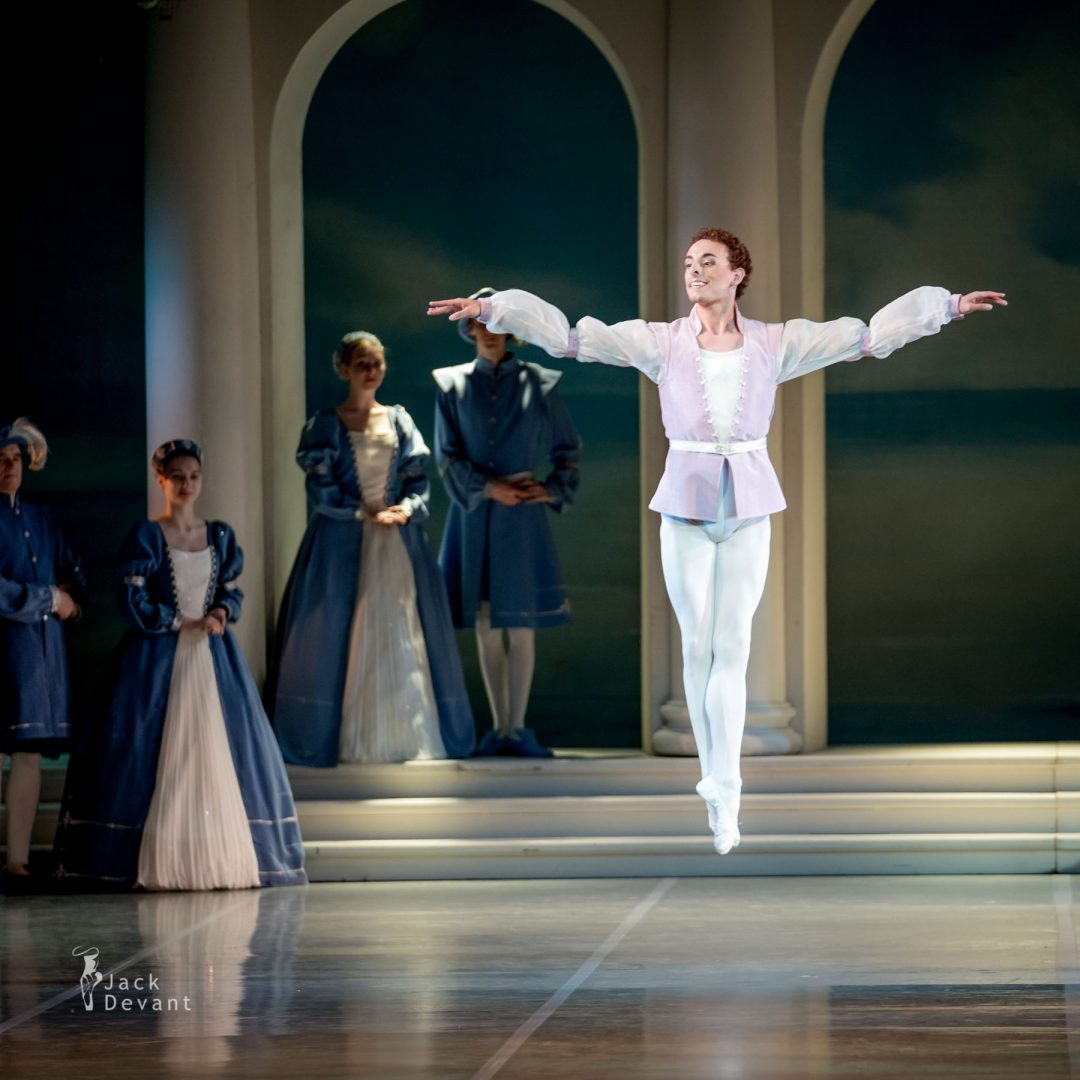Nanae Maruyama, Elisabetta Formento and Zachary Rogers in Pas de Trois, Swan Lake