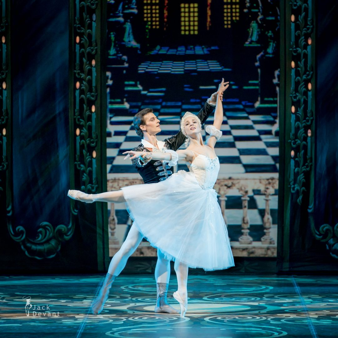 Angelina Vorontsova (Анжелина Воронцова) as Cinderella Ivan Zaytsev (Иван Зайцев) as Prince Mikhailovsky Theatre