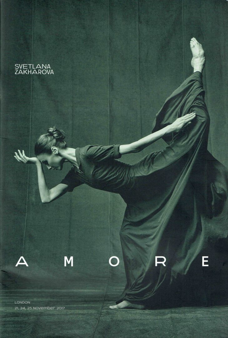 Amore Svetlana Zakharova London Coliseum program