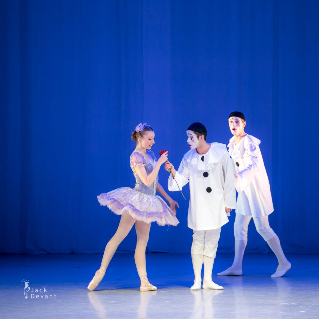 Emily Ward, Matteo Tonolo and Gerardo Avelar in Pas de trois from the Fairy Doll