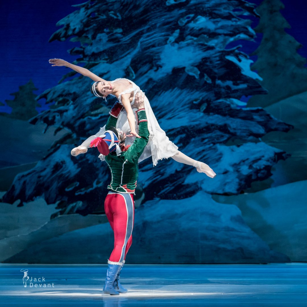 Chinara Alizade as Masha and Pavel Koncewoj as the Nutcracker