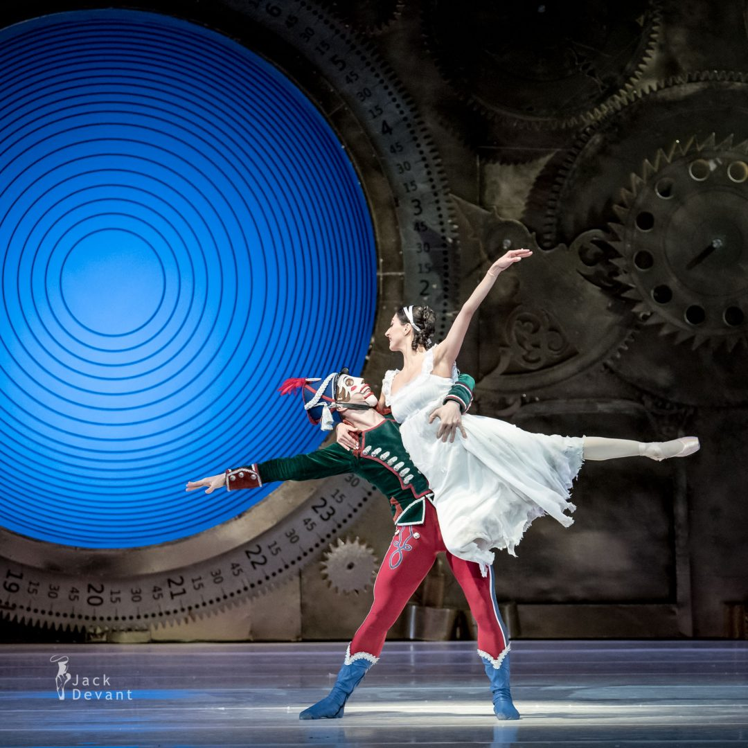 Chinara Alizade as Masha and Pavel Koncewoj as the Nutcracker 2