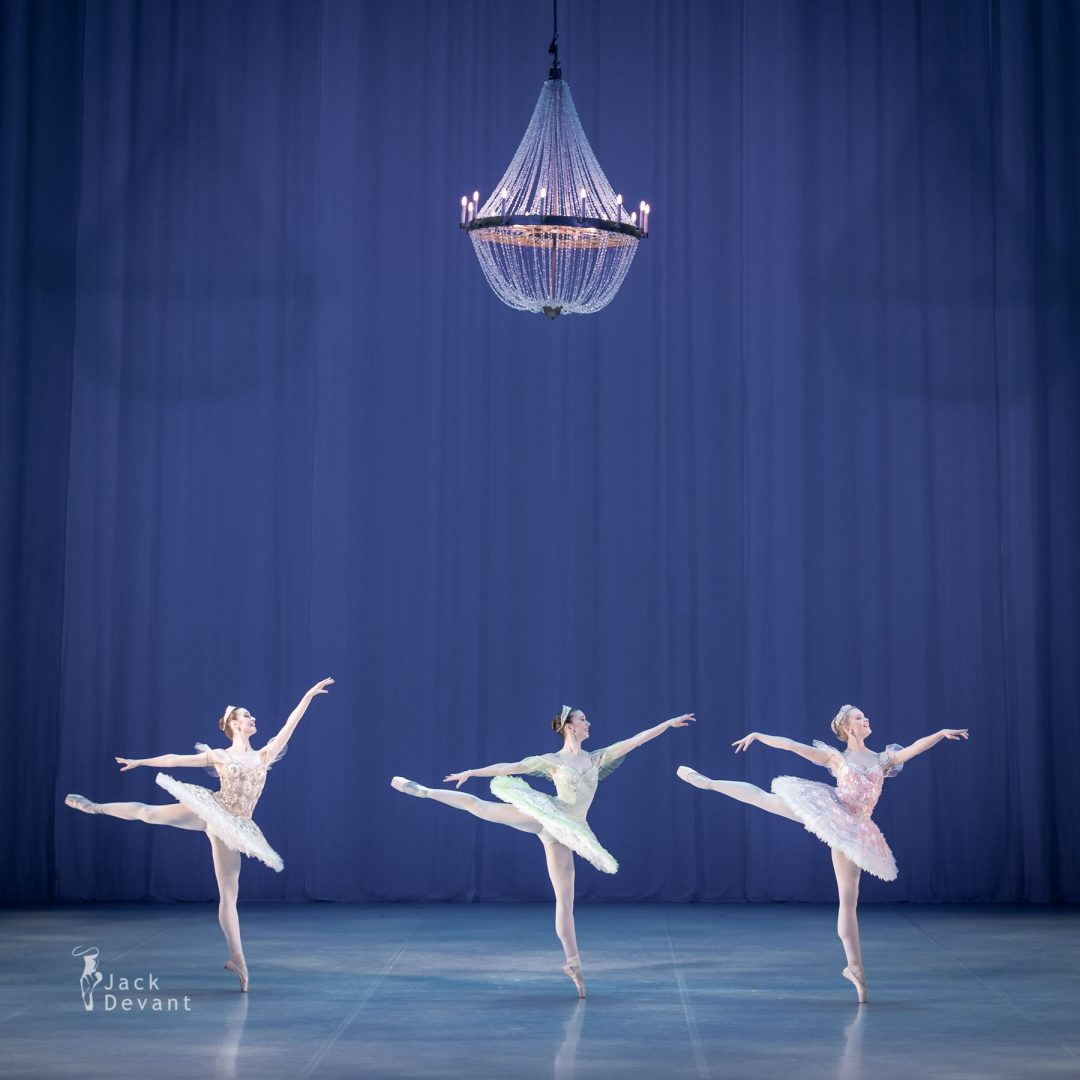 Alexandra Foyen, Laura Quin and Amy Bowring in the pas de cinq the sleeping beauty