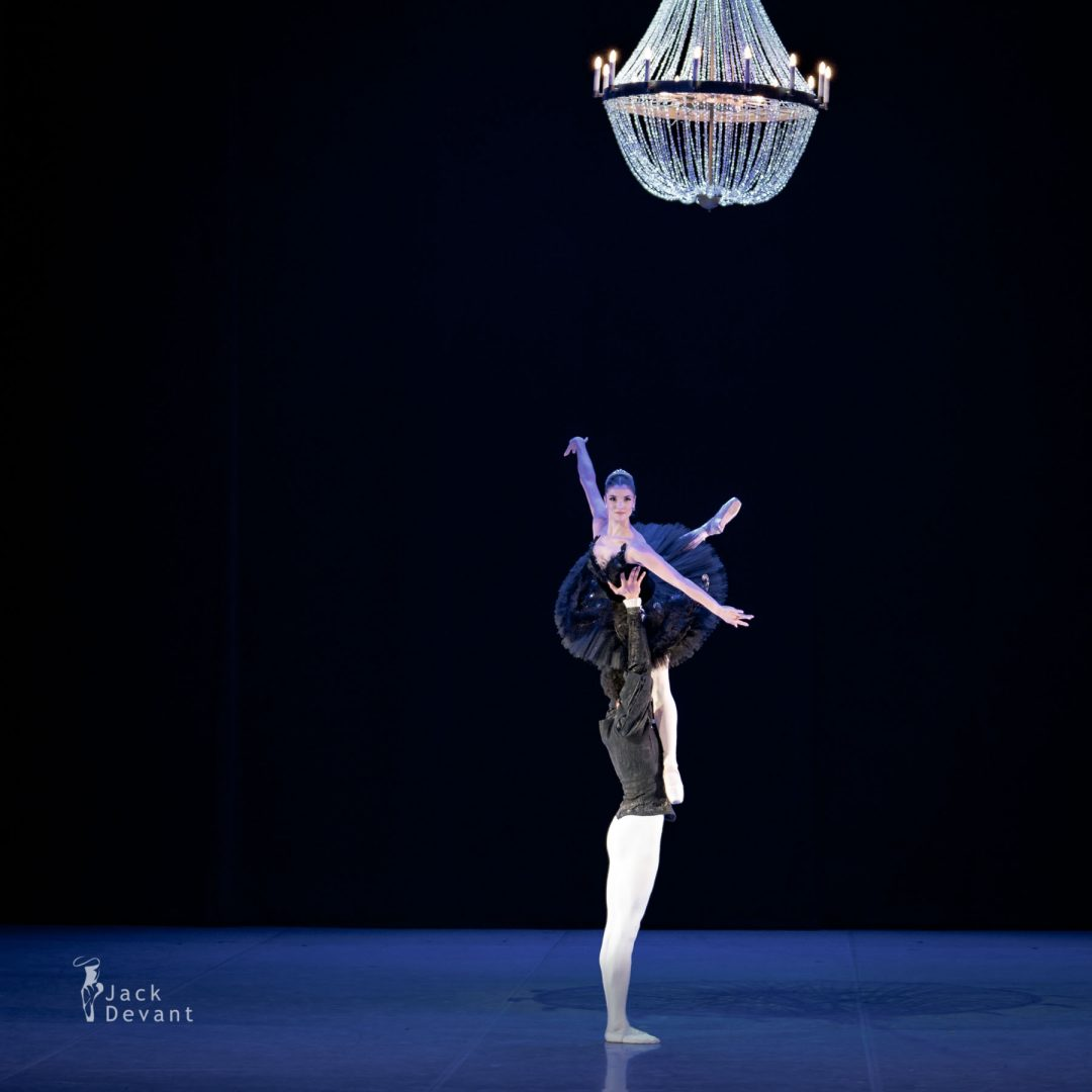 Maria Engel and Alexander Germain Drew in Swan Lake PDD chandelier