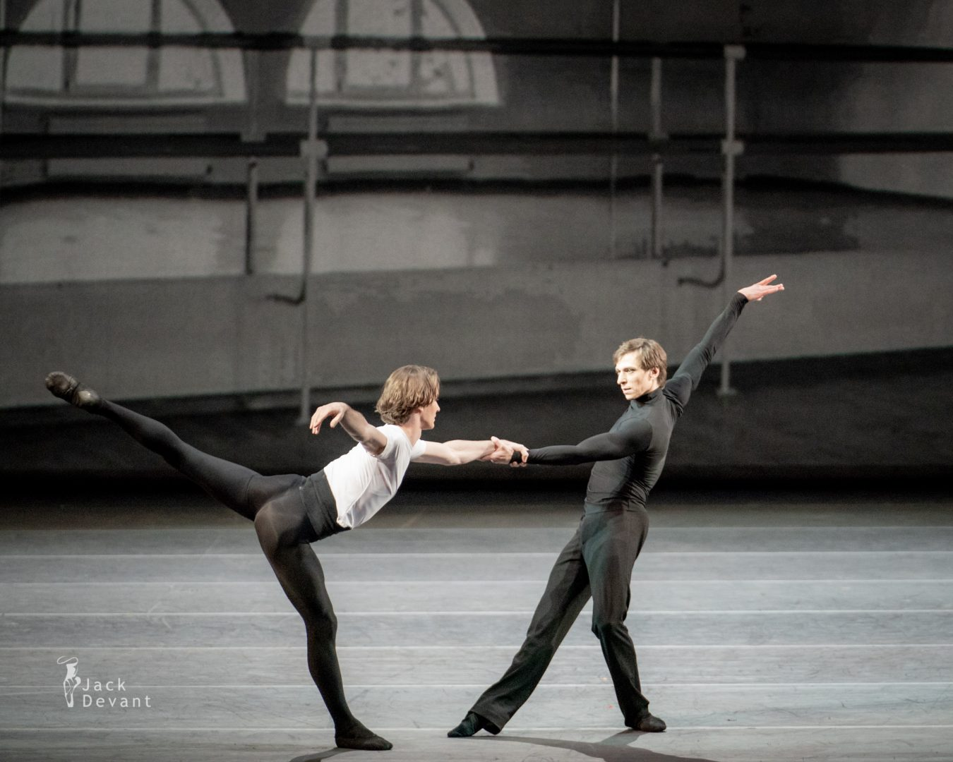 Vladislav Lantratov and Denis Savin in the duet of Nureyev and Erik from Nureyev