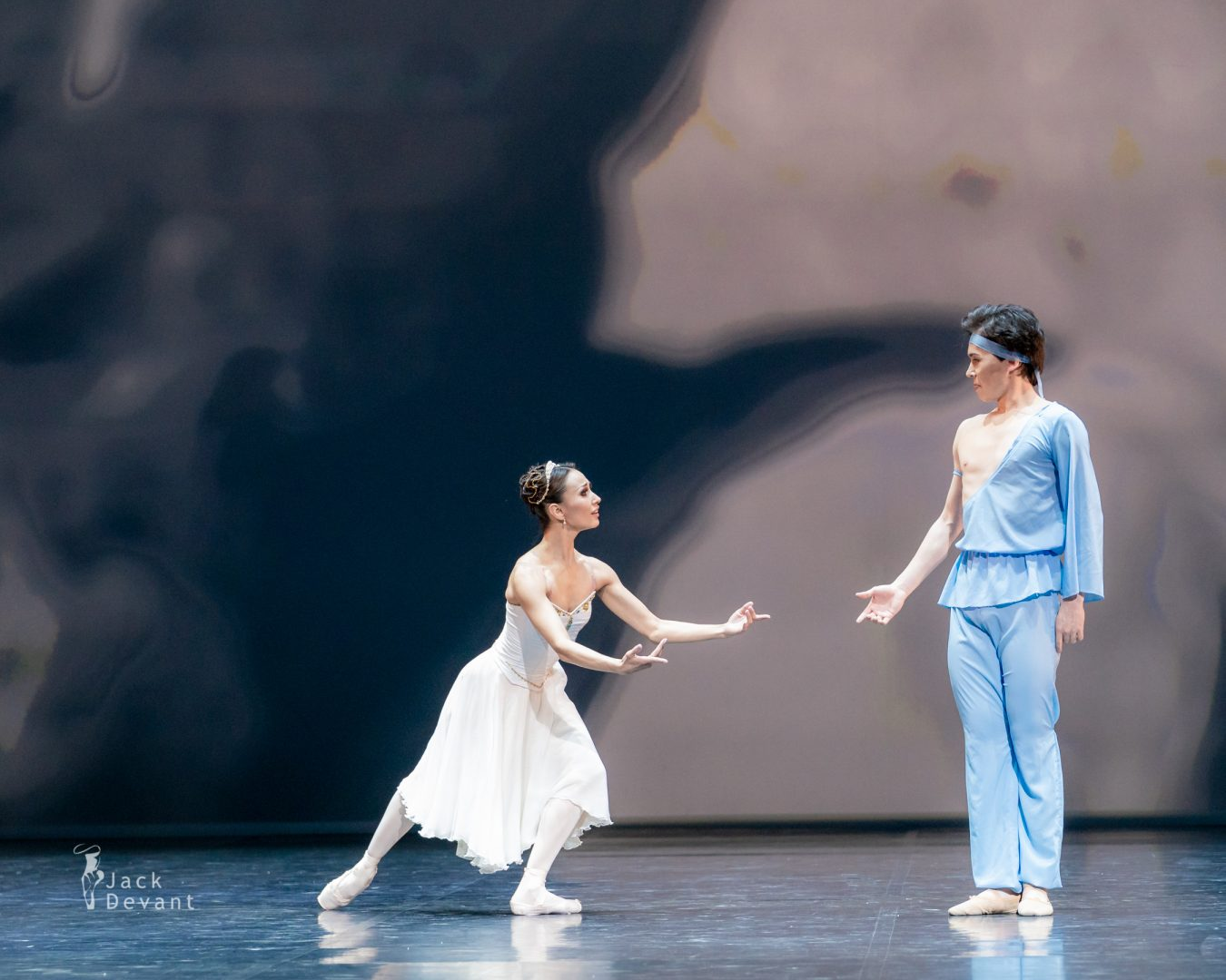 Madina Basbaeva and Erkin Rakhmatullaev in pas de deux from The Talisman 2