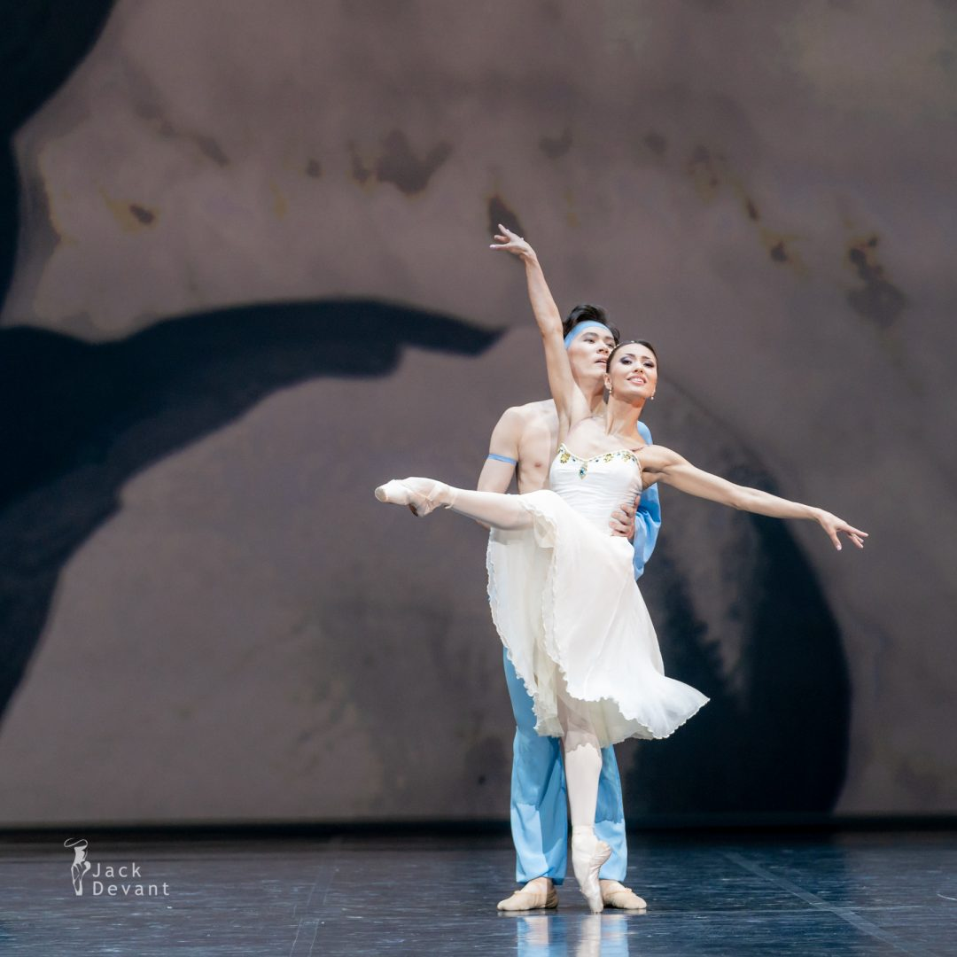 Madina Basbaeva and Erkin Rakhmatullaev in pas de deux from The Talisman 3