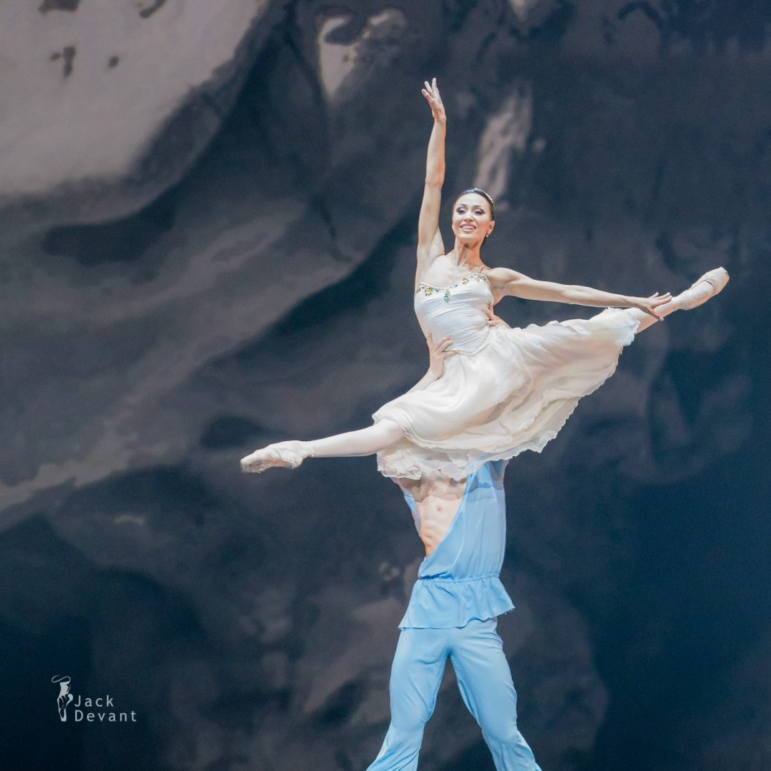 Madina Basbaeva and Erkin Rakhmatullaev in pas de deux from The Talisman 4