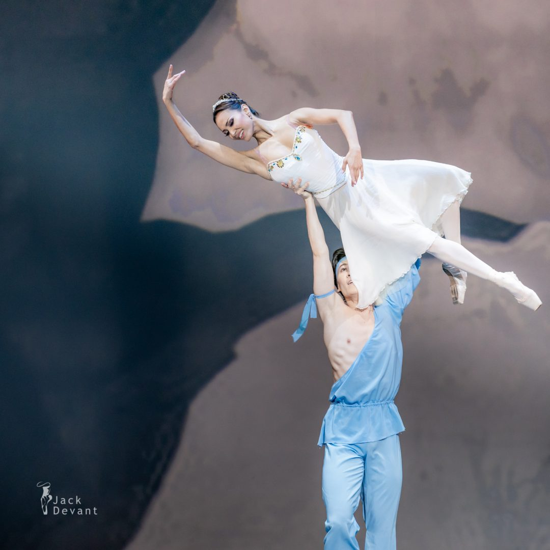 Madina Basbaeva and Erkin Rakhmatullaev in pas de deux from The Talisman 21